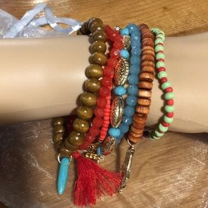Jewelry - SET OF 7 BEADED BRACELETS NWOT NEVER WORN
